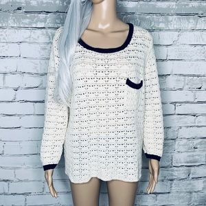 Asos Laser Cut Scoop Neck Sweater w/ Pocket